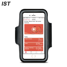 "IST Fashion Running Sport Armband For iPhone 6 Plus 7 Plus 6S 5 4.7"" 5.5""Phone Armband Case Man Reflective Armbands Pouch(China)"