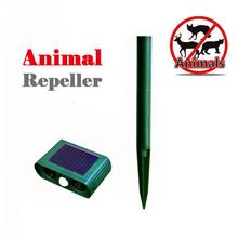 Outdoor Solar Power Ultra Sonic Scarer Frighten Animal Repellent Garden Cat Dog Pest Repeller(China)