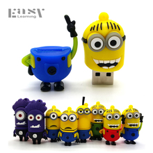 Easy Learning Cartoon USB 2.0 Pen Drive 4GB 8GB 16GB 32GB 64GB Minions USB Flash Drives Flash Card Pendrives Usb Memory Stick