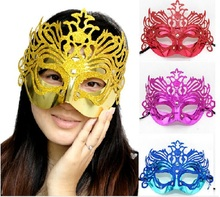 5pcs/a lot mix color  fashion mask gold shining plated party mask wedding props masquerade mardi gras mask  mix color for party