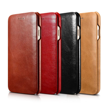 100% Genuine Leather Back Cover Case for Apple iPhone 7  7 Plus Top Quality Vertical Flip Oil Wax Fashion Embossed