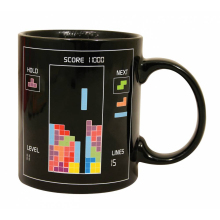 1Piece 80s Video Game Magic Mug Toys Brick Heat Sensitive Color Change Coffee Mug Retro Gift for Gamer