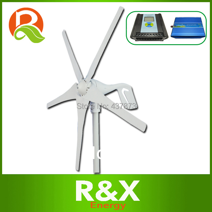 Wind energy generator 400w wind mill generator. Combine with wind/solar hybrid contorller(LCD display)+off grid inverter.(China (Mainland))