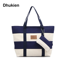 Women Big Bags Fashion Designers Casual Canvas Beach Bag Women Handbags High Quality H15040
