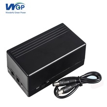 CE approved 12V battery ups power for CCTV camera system,black 12v 2a 6000mAh portable mini ups power supply 44.4wh(China)