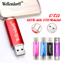 Wellendorff Hot Sale OTG pen drive 4GB 8GB 16GB 32GB 64GB small colorful swival Flash Drive USB Flash Drive for Mobile Phone/PC(China)