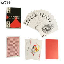 New Baccarat Texas Hold'em Plastic Playing Cards Waterproof Frosting Poker Card Board Bridge Game 2.28*3.46 inch K8356