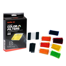Godox CF-07 Color Filter 7 Sets of Colors Studio Lighting flash camera +Velcro+Rubber band for flash Camera