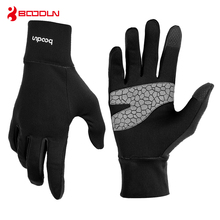 Boodun Outdoor Sports Winter Cycling Gloves Touch Screen GEL Bike Gloves MTB Road Full Finger Bicycle Driving Gloves Men Women