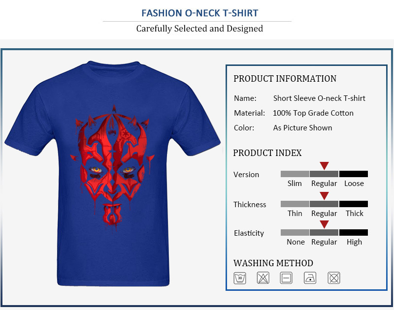 Darth Maul Emerges Summer 100% Cotton Round Neck Tees Short Sleeve Design Clothing Shirt Rife Unique Top T-shirts Darth Maul Emerges