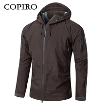 Copiro Spring Men Hiking Jacket Waterproof Military Tactical Windbreakers Hardshell Shark Skin Coats Camouflage Outdoor Clothing(China)