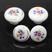 33MM  Round Ceramic Door Knobs Cabinet Drawer Cupboard Locker Kitchen Pull Handle-Y122