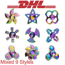 Buy 2017 New Mixed 100Pcs/Lot Rainbow Colorful Aluminium Hand Fidget Finger Spinner Adult Anti Stress Relief Toys Metal Box EDC for $263.70 in AliExpress store