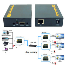 ZY-DT103 394ft/120m HDMI LAN Extender With IR 1080P UTP/STP Cat 5/5e/6  HDMI Transmitter Receiver Over TCP IP Like HDMI Splitter