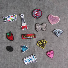 1pcs sell fashion style hot melt adhesive applique embroidery patch DIY clothing accessory patches stripes C910-C854