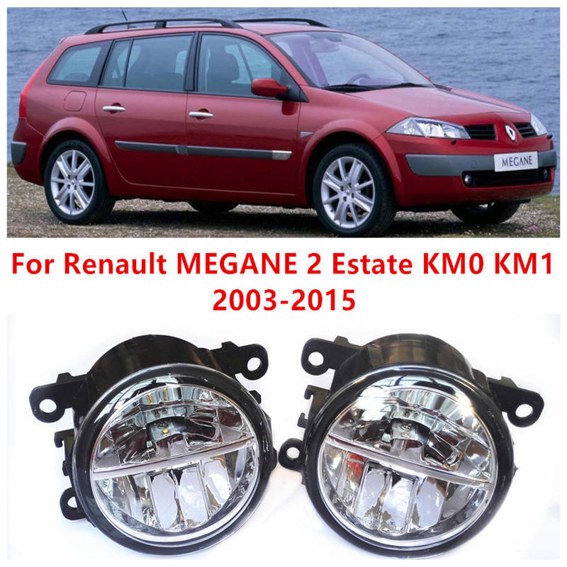 For Renault MEGANE 2 Estate KM0 KM1  2003-2015 Fog Lamps LED Car Styling 10W Yellow White 2016 new<br>