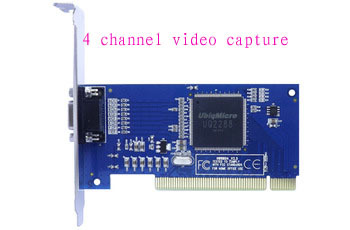 JIENU 4 channel video capture card pci real time dvr cctv system security<br>