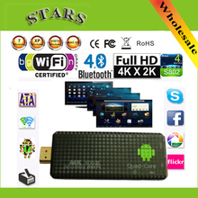 Android 4.2.2 mini PC Quad core RK3188 Google TV Box MK809III 2GB RAM 8GB ROM Bluetooth Wifi HDMI XBMC tv stick MK809 III(China)