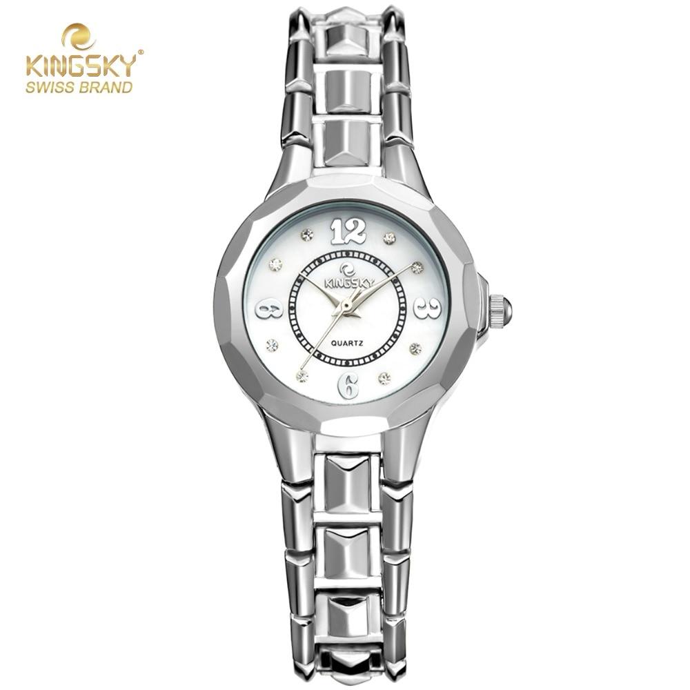 2017 Luxury Watch Women Famous Brand Kingsky Silver Band Quartz Wrist Watches For Women Fashion Women Dress Watches Top Quality<br><br>Aliexpress