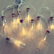 Creative Birthday Party Suppliers Wishing Bottle Jars LED String Lights For Church Wedding decoration mini rope tree ornaments