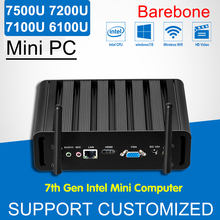 7th Gen Intel Core i3 7100U i5 7200U i7 7500U Barebone Mini PC i3 6100U Windows 10 Mini Office Computer 4K HTPC Kaby Lake Nuc(China)