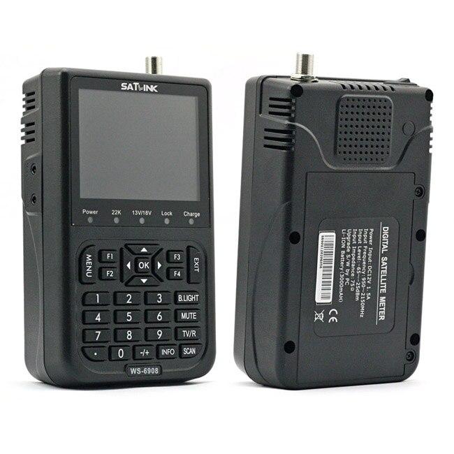 Satlink WS-6908 3.5 LCD DVB-S Diseqc Ver1.0/1.2 FTA Data Satellite Finder Meter<br><br>Aliexpress