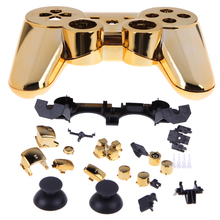 Replacement controller Shell for PS3 Golden Bluetooth Wireless Controller Full Housing Shell Case For Sony Play Station 3 PS3