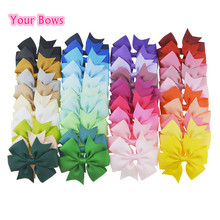 You Bows 20pcs/40pcs 40Colors 3inch Grosgrain Ribbon Hair Bows Hairpins Girls' Boutique Pinwheel Hair Clip Kids Hair Accessories(China)