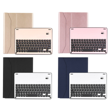 "9.9.7"" Newest Waterproof Dustproof 2in1 Bluetooth 3.0 Wireless Keyboard Foldable Leather Case Stand Cover Holder for iPad Air Pr(China)"