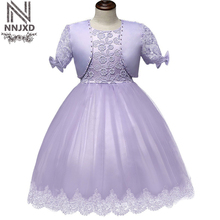 Lace Little Princess Girl Dress Children's Costumes For Girl Kids Party Clothes Baby Birthday Wedding Prom Gown Vestido Infantil