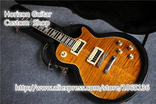 New Arrival Cheap Chinese LP Guitar Slash Appetite Signature Tiger Flame Grains with Hard Case(China)