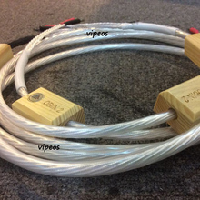 A pair Nordost Odin 2 silver speaker cable with silver banana plug or spade plug