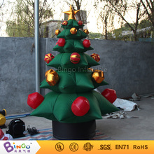 Free shipping 2.2M high inflatable christmas trees High quality blow up christmas decorations for display toys(China)