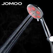 JOMOO 3 jets color led shower Water Temperature Led Shower Intelligent Digital Display With Wall Bracket Stainless Steel Hose(China)