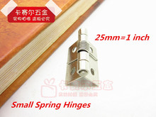 50pcs/lot 1in Small Automatic Closed Jewelry Box Hinge Spring Loaded Hinge mini hinges for wooden box