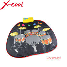 Free shipping XC8859NC 70.5x65cm Jazzdrums Musical play mat /Bay play mat /New Fashion Children's Educational Toys/baby play rug