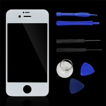 Hot Black/White Front Screen Outer Glass Touch Screen Digitizer Panel LENS For Repair For iPhone 4 4S 4G Tools With Logo