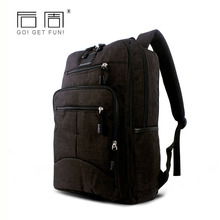 School Backpack Male Casual Style Backpack Schoolbag 14Inch Laptop Backpack Multifunction Business Solid Color Bag New Arrivals(China)