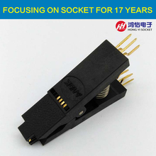 BIOS SOP8 SOIC8 Bent Original Test Clip Pin Pitch 1.27mm Universal Body EPROM Programming Clip Suitable for Dupont Line(China)