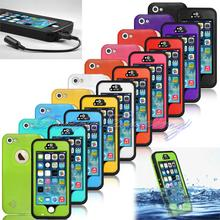 Premium Waterproof Smart Cell Phone Cases Fingerprint Touch ID Protect Case Stand Cover for Apple iPhone 5 5S