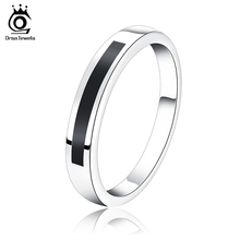 ORSA JEWELS 2017New Arrival Luxury Black Natural Stone Design,Lead & Nickel Free Ring,Luxury Ring Gift for Girls and Ladies OR27