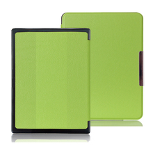 Newest Hard Shell Leather Cover Case for Kobo Aura H2O 6.8 inch Ebook, Wake Up and Sleep + Screen Protector + Stylus Pen