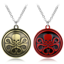 New Marvel DC Comics Agents of SHIELD necklace gold red metal avenger logo figure eagle pendant necklace Christmas Gifts