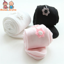 1pcs retail baby girls tights with flower cotton tights,girl pantyhose baby stocking atwt0011(China)