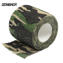 Hunting Elastic Stealth Tape Military Waterproof Camo Tapes For Camera Paintball Shooting Bicycle Gun Stretch Bandage Tools