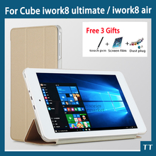 For Cube iwork8 ultimate Case Protective Flip Cover Case PU Leather Case For Cube Iwork8 air 8 inch tablet pc