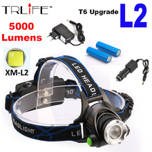 Linternas Frontales Cabeza 5000 Lumens CREE XM-L2 LED Headlamp Headlight Head Lamp Light ,Hunting Fishing ,Camping