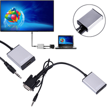 DC 5V VGA To HDMI Output 1080P HD + USB Audio TV AV HDTV Video Cable Converter Adapter VGA to HDMI Converter(China)