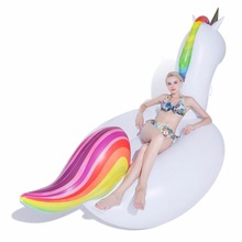 Inflatable Unicorn Pool Float Giant Swimming Float for Adult 275cm 108 inch Tube Raft Kid Swim Ring Summer Water Fun Pool Toy(China)