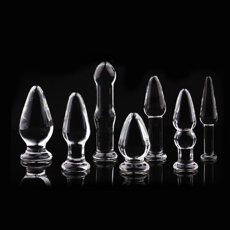 1Pc Glass Anal Butt Plugs Crystal Dildos Beads Ball Erotic Stimulator Fake Penis Female Masturbate Sex Toys for Couples 4